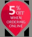10 percent off online ordering percent teardrop