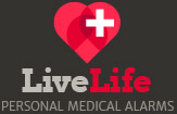 personal medical alarm with fall alert footer logo