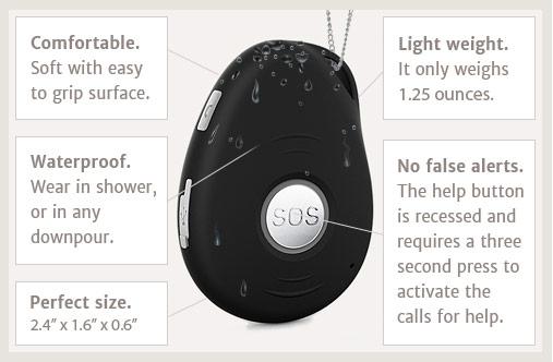 mobile medical alarm slider system 9 life alert