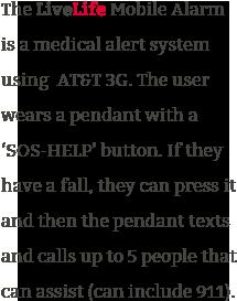 how livelife medical mobile alarm pendant works
