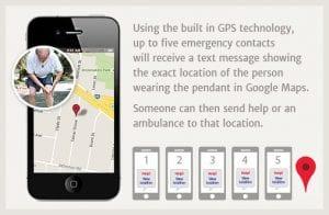 mobile medical alert system pendant fall detection alarm