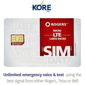 kore wirless live life mobile alert sim