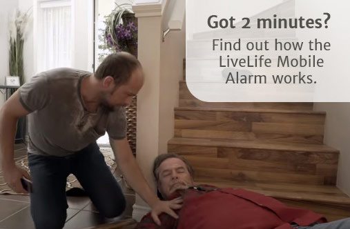 how the Live Life mobile alarm works