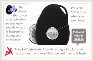 mobile medical alarm slider