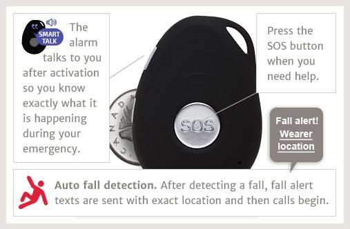 emergency gps mobile medical alarm slider